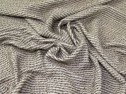 Lurex Wool Blend Coating Fabric  Camel