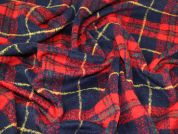 Wool Blend Coating Fabric  Red & Navy