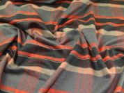 Wool Blend Coating Fabric  Orange & Grey