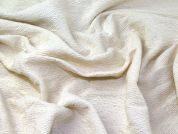 Wool Blend Coating Fabric  Cream