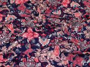 Floral Print Stretch Jersey Knit Dress Fabric  Multicoloured