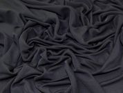 Plain Slinky Stretch Jersey Knit Dress Fabric  Black
