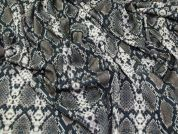 Snakeskin Print Marcello Stretch Jersey Knit Dress Fabric  Brown
