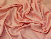 Textured Shimmer  Surface Stretch Jersey Knit Dress Fabric  Peach