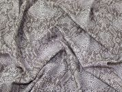 Snakeskin Print Marcello Stretch Jersey Knit Dress Fabric  Ivory & Taupe