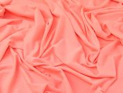 Textured Surface Stretch Jersey Knit Dress Fabric  Flo Coral