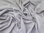 Poly Elastane Stretch Double Jersey Knit Dress Fabric  Silver Grey