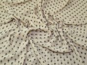 Repeat Print Polyester Chiffon Dress Fabric  Beige