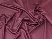 Shimmer Textured Stretch Jersey Knit Dress Fabric  Plum