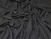Plain Stretch Jersey Knit Dress Fabric  Black