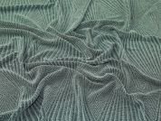 Sparkly Geometric Design Stretch Jersey Knit Dress Fabric  Green