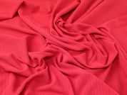 Textured Surface Stretch Jersey Knit Dress Fabric  Red