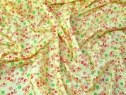 Floral Print Poycotton Dress Fabric  Lemon