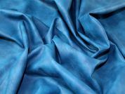 Marble Finish Faux Leather Dress Fabric  Turquoise