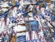 Abstract Print Stretch Jersey Knit Dress Fabric  Multicoloured