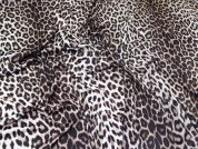 Animal Print Stretch Jersey Knit Dress Fabric  Brown