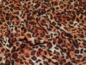 Animal Print Polyester Chiffon Dress Fabric  Ginger