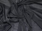 Airtex Stretch Mesh Dress Fabric  Black