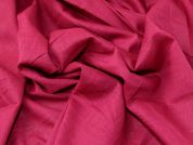 Plain Woven Linen & Cotton Blend Lightweight Dress Fabric  Raspberry Pink
