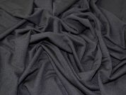 Textured Surface Stretch Jersey Knit Dress Fabric  Black