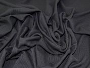 Textured Polyester Rib Stretch Jersey Knit Dress Fabric  Black