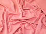Variegated Thread Neon Stretch Jersey Knit Dress Fabric  Fluorescent Pink & Biege