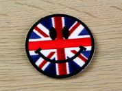 Smiley Face Union Jack Embroidered Iron On Motif Applique