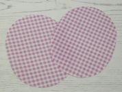 Gingham Check Iron On Oval Patches