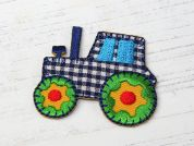Tractor Embroidered Iron On Motif Applique  Multicoloured