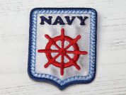 Nautical Badge Embroidered Iron On Motif Applique  Multicoloured