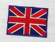 Union Jack Embroidered Iron On Motif Applique  Red, White & Blue