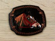 Horse Patch Embroidered Iron On Motif Applique  Brown
