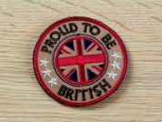 Proud To Be British Embroidered Iron On Motif Applique  Multicoloured