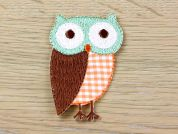 Owl Embroidered Iron On Motif Applique  Multicoloured