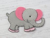Elephant Embroidered Iron On Motif Applique