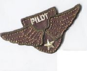 Aviation Patch Motif  Brown