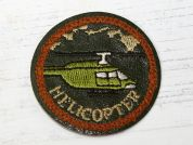 Aviation Embroidered Iron On Motif Applique  Green