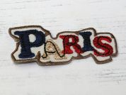 Paris Embroidered Iron On Motif Applique  Multicoloured