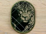 Lion Patch Embroidered Iron On Motif Applique  Green