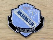 Washington Athletics Embroidered Iron On Motif Applique  Blue