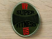 Super Fitness Embroidered Iron On Motif Applique  Khaki Green