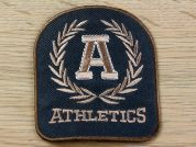 Athletics Embroidered Iron On Motif Applique  Green