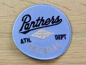 Panthers Colorado Embroidered Iron On Motif Applique  Blue