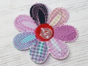 Flower Embroidered Iron On Motif Applique  Multicoloured