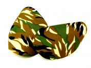 Camouflage Iron On Oval Patches  Green