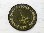 Aviation Patch Embroidered Iron On Motif Applique  Green