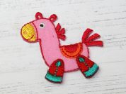 Horse Embroidered Iron On Motif Applique  Multicoloured