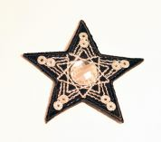 Star Patch Motif  Black & Silver