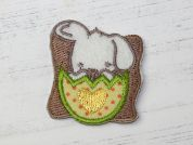 Easter Bunny Embroidered Iron On Motif Applique  Multicoloured