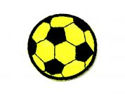 Football Embroidered Iron On Motif Applique  Yellow & Black